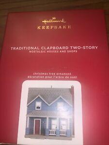 Hallmark 2020 Traditional Clapboard Two Story Nostalgic Houses & Shops Orn.  NIB