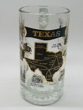 Beer Glass Stein Mug ~ TEXAS: Lone Star State; Longhorns, Alamo, Oil, Astrodome+