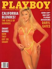 PLAYBOY AUGUST 1991 CALIFORNIA BLONDES DARYL GATES, ROBERT DOWNEY Jr.