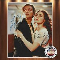 Leonardo DiCaprio Kate Winslett Autographed Signed 8x10 Photo (Titanic) REPRINT