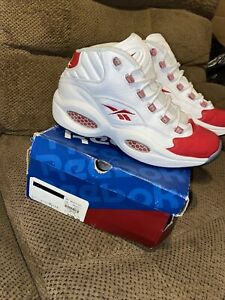 Reebok OG Red Question Mid White/Red Size 9 — 2012 Release - OG Box And Receipt