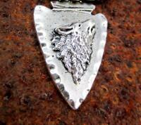 Details about  /925 Silver Indian Arrowhead Spear Pendant Necklace jewelry Art A20