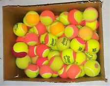 15 USED TENNIS BALLS - DEAD-DOG TOYS - OTHER (YELLOW-ORANGE-RED-PINK) TENNIS BAL