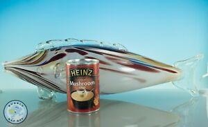 "MID CENTURY MURANO GLASS BIG FISH SCULPTURE RETRO VINTAGE SIDE BOARD ART 18"""