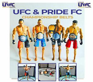 Custom UFC Championship Title Belts for Figures x 5  Pride FC MMA