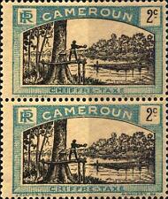 CAMEROUN - CAMERUN - 1925-1927 - Segnatasse: uomo abbatte un albero. -