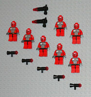 LEGO Minifigures 7 Space Snake Aliens Lot Weapons Ninjago People Guys Minifigs