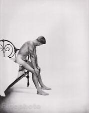 c.1951/81 Vintage MALE NUDE Physique Duotone Photo Art GEORGE PLATT LYNES 16x20