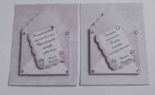 PK 2 DEEPEST SYMPATHY ENVELOPE TOPPERS FOR CARDS/CRAFTS