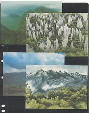 La Malaysia parchi nazionali, riserve naturali, montagne 4 x CARTOLINE (n17697)