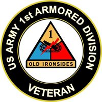 """Army 1st Armored Division Veteran 5.5"""" Sticker 'Officially Licensed'"""