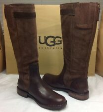 UGG AUSTRALIA CASTILLE JAVA LEATHER TALL BOOTS SIZE 10 US