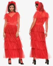 Beetlejuice Lydia Deetz wedding bride dress cosplay costume Rubie's official S M