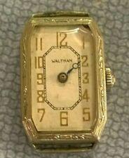 1934 Waltham 761 7j Men's 14kt Gold Filled Wristwatch - Watchmaker Repair Parts