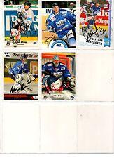 NHL/DEL Trading Cards---5 unterschriebene Cards der Straubing Tigers