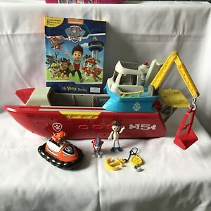 Paw Patrol Sea Patroller Boat Vehicle Lights & Sounds + Dogs + Cars + Busy Books
