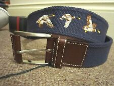 BNWT LEYVA REGIMENTAL POLO CLUB LEATHER BELT  size 85cm 29/30/31/32 waist S-M