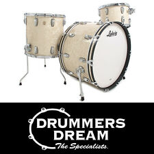 """Ludwig Classic Maple Series 3 Piece 24"""" Drum Kit Shell Pack Vintage White Marine"""