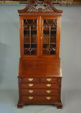 TOP QUALITY MAHOGANY REPRODUCTION ANTIQUE STYLE BOOKCASE BUREAU  DELIVERY OPTION