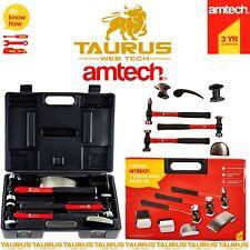 7x AMTECH Auto Body Dent Repair Kit Panel Beating Fibreglass Hammer Shrinking UK