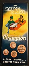 "VINTAGE 1949 CHAMPION OUTBOARD MOTOR SALES BROCHURE NICE  9"" X 21""  (822)"