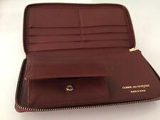 Comme des Garçons AUTHENTIC UNISEX  BROWN Diamond Embossed Checkbook Zip Wallet