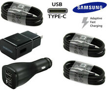 OEM Samsung Galaxy S10 S8 S9 Note8 Plus Fast Wall Car Charger USB-C Type-C Cable