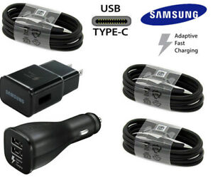 OEM Samsung Galaxy S20 S8 S9 Note8 Plus Fast Wall Car Charger USB-C Type-C Cable