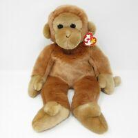 """Ty Beanie Buddies Collection Bongo brown monkey soft toy plush Tylon 14"""" tag"""