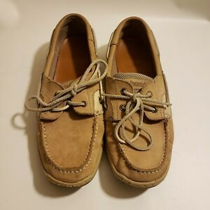 Bjorndal Chesapeake Tan Leather Boat Shoes 9.5 Women's Vented Comfort Lounge