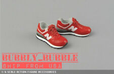 "1/6 Sneakers RED For 12"" Hot Toys TBLeaghe Hot Toys Male Figure SHIP FROM USA"