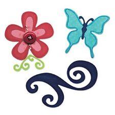 Sizzix Sizzlits Die Set 3PK - Butterfly, Flower & Swirl Set