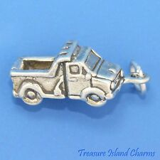 DUMP TRUCK TIPPER LORRY CONSTRUCTION 3D .925 Sterling Silver Charm