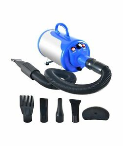 SHELANDY 3.2HP Stepless Adjustable Speed Pet Hair Force Dryer Dog Grooming Bl...