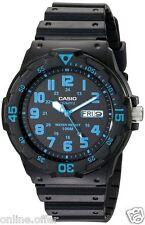 Casio Black Resin Dive Watch Mens Waterproof Swimming Snorkeling Crystal Wrist B