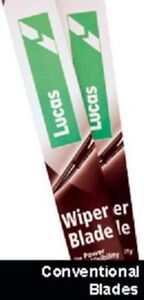 """FORD TOURNEO CONNECT 2002- LUCAS WINDSCREEN WIPER BLADES (PAIR) 22"""" 20"""""""