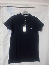 Men Diesel T-Yahei Shirt Medium Blue Polo 81E Metal Logo