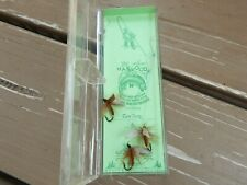 """Vtg Lot of 3 Haywood Flies Fishing Lures """"Cow Dung"""" Original Package Denver Co"""