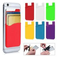 For Cell Phone Silicone Adhesive Sticker Back Cover Card Creative HOT J7A9