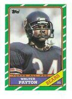 1986 TOPPS WALTER PAYTON #11 CHICAGO BEARS HOF
