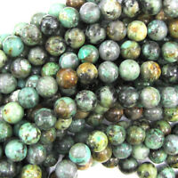 "African Turquoise Round Beads Gemstone 15.5"" Strand 4mm 6mm 8mm 10mm 12mm 14mm"