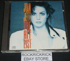 JOAN JETT - THE HIT LIST -10 TRACK CD- (CHRYSALIS - CDP 32 1773 2) MADE IN UK