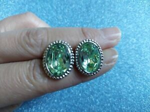 Authentic Swarovski Erinite Pierced Earrings