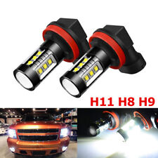H11 H8 H9 80W LED Fog Light Conversion Bulbs Driving Lamp DRL 6000K HID White NY