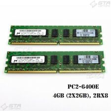4GB (2x2GB) Micron Server Workstation Memory Ram 2Rx8 PC2-6400E MT18HTF25672AY