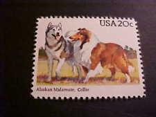 Scott # 2100 Alaskan Malamute & Collie Unused Ognh