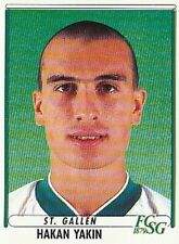 191 HAKAN YAKIN # SUISSE FC.ST.GALLEN STICKER PANINI FOOTBALL 99