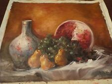 Violetta De Koszeghy, Oil Painting, Still Life, Fruit, ORIGINAL, Unframed