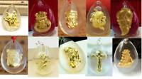 10pcs Hot Sale Fine 24K Yellow Gold &Crystal Pendant Man Woman's Lucky Crystal