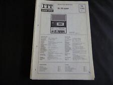 Original Service Manual  ITT Schaub Lorenz SL 58 super